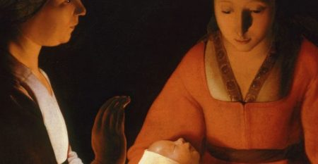 The New-born, by Georges de La Tour