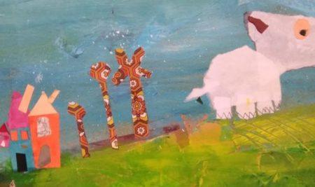 Stage jeune public / Peinture et collage sur toile