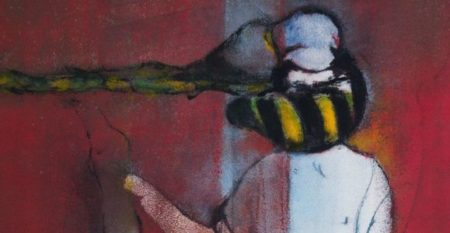 4_Jérôme Borel, Le bourdon, Acrylique sur toile, acrylic on canvas, 162 x 130 cm, 2020_300-870300